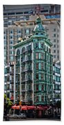 Columbus Tower In San Francisco Beach Towel
