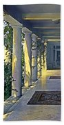 Columns And Chairs Beach Towel