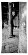 Columns At The Church Of Nativity Black And White Vertical Beach Towel