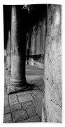 Columns At The Church Of Nativity Beach Towel