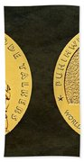 Comanche Nation Tribe Code Talkers Bronze Medal Art  Beach Towel
