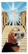 Come Walk With Me Over The Rainbow Bridge Beach Towel