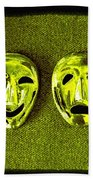 Comedy And Tragedy Masks 6 Beach Towel
