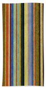 Comfortable Stripes V Beach Towel by Michelle Calkins