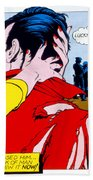 Comic Strip Kiss Beach Towel