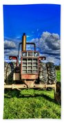 Coming Out Of A Heavy Action Tractor Beach Towel