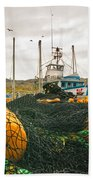 Commercial Fishing In The North Atlantic Beach Towel