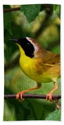 Common Yellowthroat Warbler Beach Towel
