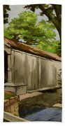 Comstock Covered Bridge East Hamptom Connecticut Beach Towel