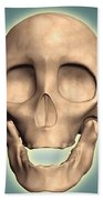 Conceptual Image Of Human Skull, Front Beach Towel by Stocktrek Images