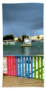 Conch Boats Arriving Beach Towel