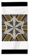 Concrete Flowers - Kaleidoscope - Pentaptych Beach Towel