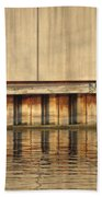 Concrete Wall And Water 1 Beach Towel