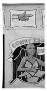 Coney Island Alive In Black And White Beach Towel