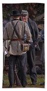 Confederate Civil War Reenactors With Rebel Confederate Flag Beach Towel