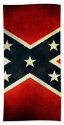 Confederate Flag Beach Towel by Les Cunliffe