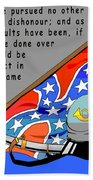 Confederate States Of America Robert E Lee Beach Towel by Digital Creation