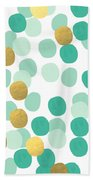 Confetti 2- Abstract Art Beach Towel
