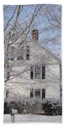Connecticut Winter Beach Towel