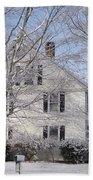 Connecticut Winter Beach Towel by Michelle Welles