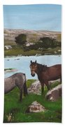 Connemara Ponies Beach Towel