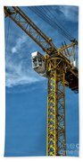 Construction Crane Asia Beach Towel