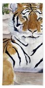Contemplating Dinner Beach Towel