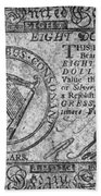 Continental Currency, 1777 Beach Towel