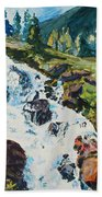 Continental Falls Beach Towel