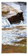 Converging Stream Water Beach Towel