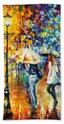 Conversation - Palette Knife Oil Painting On Canvas By Leonid Afremov Beach Towel