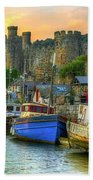 Conwy Castle And Harbour Beach Towel