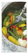 Cooked Mixed Vegetables Beach Towel