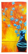 Cool Blue On Fire Beach Towel