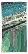 Cool Colors Abstraction Beach Towel