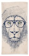 Cool Lion Beach Towel