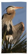 Great Blue Heron Air Conditioning Beach Towel
