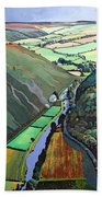 Coombe Valley Gate, Exmoor, 2009 Acrylic On Canvas Beach Towel