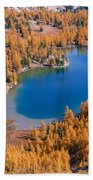 Cooney Lake Larches Beach Towel