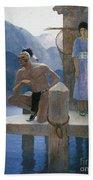 Cooper: Deerslayer, 1925 Beach Towel