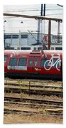 Copenhagen Commuter Train Beach Towel