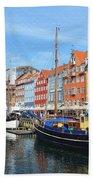 Copenhagen Denmark Nyhavn District Beach Towel