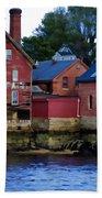 Copper Paint Building Beach Towel
