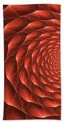 Copper Spiral Vortex Beach Towel