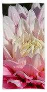 Coral Dahlia Beach Towel