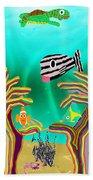 Coral Hands Beach Towel