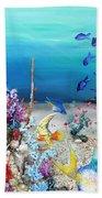Coral Reef Blues  Beach Towel