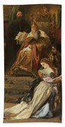 Cordelia In The Court Of King Lear, 1873 Beach Towel