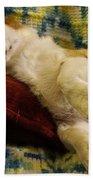Corgi Asleep On The Pillow Beach Towel