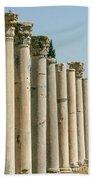 Corinthian Columns In Turkey Beach Towel